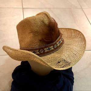 Other - 🤠VINTAGE•STRAW•COWBOY•HAT🔥